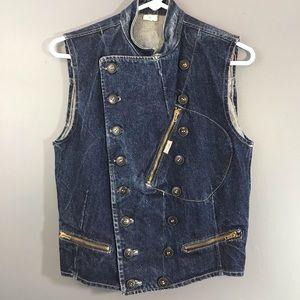 🌺La Gang Vintage Denim Button Up Vest